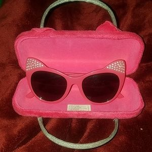 NWOT Girls bling💎bling kitty sunglasses w/ case